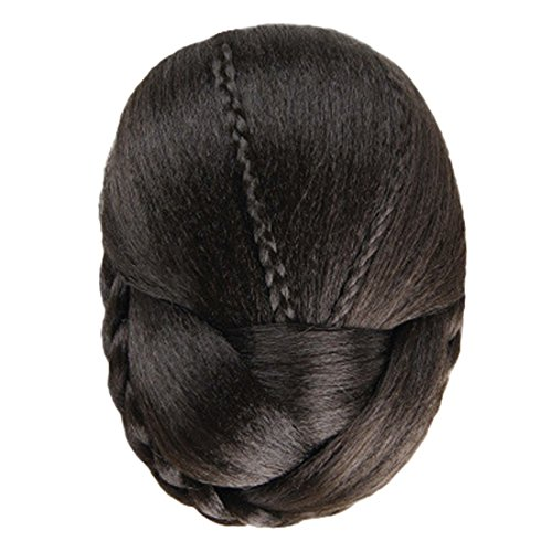 Hemlock Women Girl Round Fashion Wig Hair Braided Wig (Brown) - Black And White Striped Dance Costume