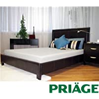Priage Green Tea/Charcoal 6-inch Full-size Memory Foam Mattress