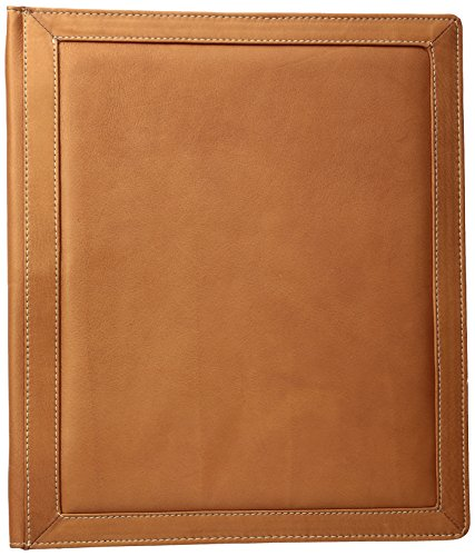 Piel Leather Three-Ring Binder Sa, Saddle