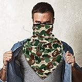 Bape Camo Green Sports Face Guards,Windproof Face