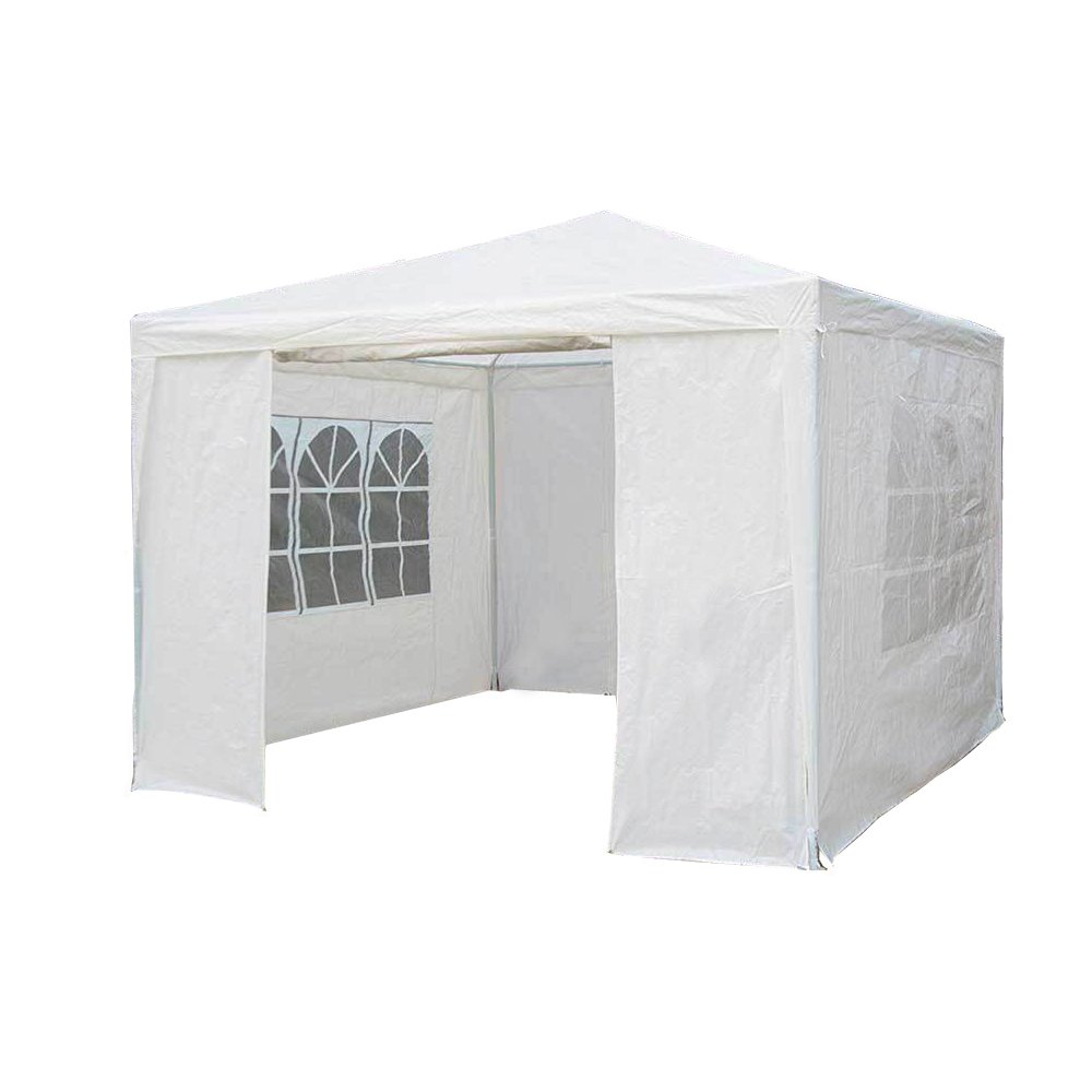 3Mx3M PE Garden Gazebo Awning Party Wedding Tent With Full sidewall Saving Plus