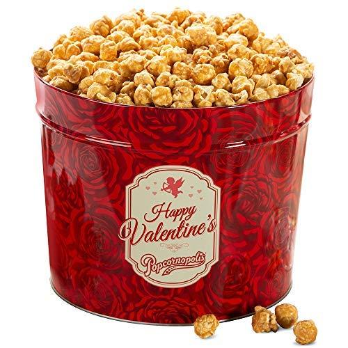 Popcornopolis Gourmet Popcorn 1.26 Gallon Tin (Valentine's Day)