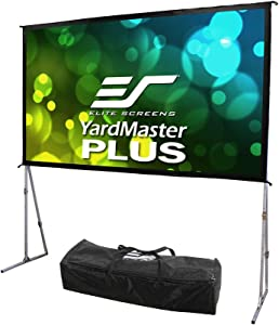 Elite Screens Yard Master Plus Series, 135-INCH, 16:9, 8K Ultra HD 3D Ready Indoor/Outdoor Portable Foldaway Home/Movie/Theater Projector Screen, Front Projection - OMS135H2PLUS, 2-YEAR WARRANTY