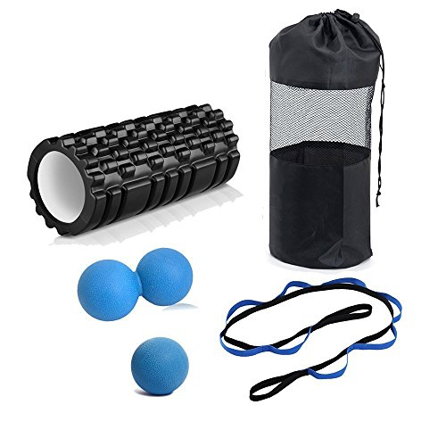 Trigger Point Massage Roller Set, Includes Foam Roller, Yoga Stretch Strap, Massage Ball, CarryingBag, For Deep Tissue Massage and Muscle Exercise Set – DiZiSports Store