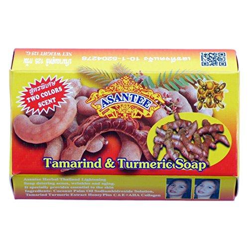 125g Soaps - Asantee Tamarind and Turmeric Skin Whitening Facial Soap 125 grams