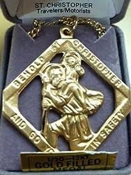 St Christopher Medal - Large Gold Medal