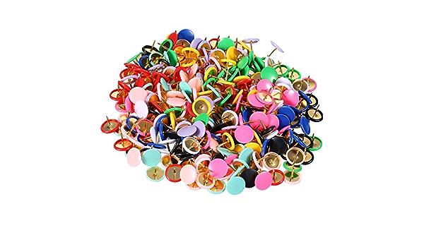 300 piezas de chinchetas coloridas redondas para dibujar ...