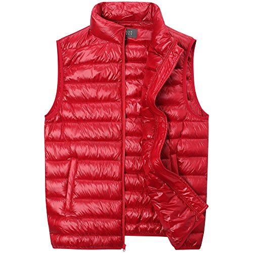 The Plus Project Men's Plus Size Quilted Down Vest with Stand Collar 4X-Large (Mens Plus Size)
