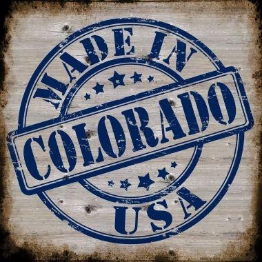 Smart Blonde Colorado Stamp On Wood Novelty Metal Square Sign SQ 111