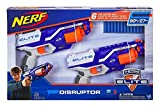 nerf pistol pack - Nerf N-Strike Elite Disruptor 6 Dart Rapid Fire Nerf Gun Blaster Shoots 90 ft! (Twin Pack)