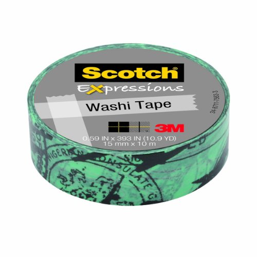 Scotch Expressions Washi Tape, .59-Inches x 393-Inches, Airplane., 6 Rolls/Pack