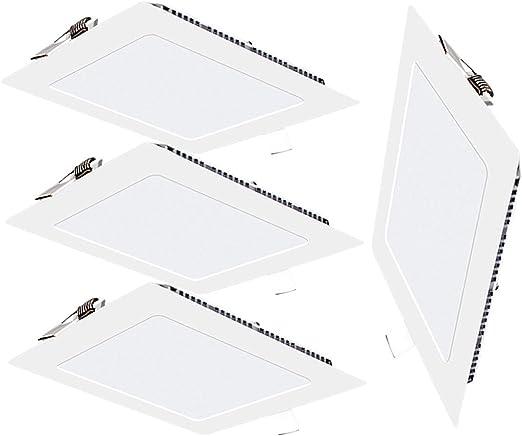 Pack 4x Downlight LED Led Panel light Cuadrado 9W 3000K Luz cálida ...