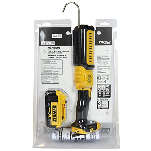 Dewalt DCL050M1 20V MAX 4.0 Ah Cordless Lithium-Ion Hand Held Area LED Light Kit by DEWALT