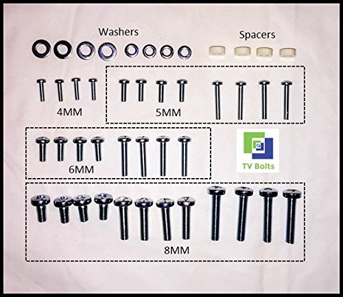 Universal TV mounting Bolts/Screws, washers, spacers