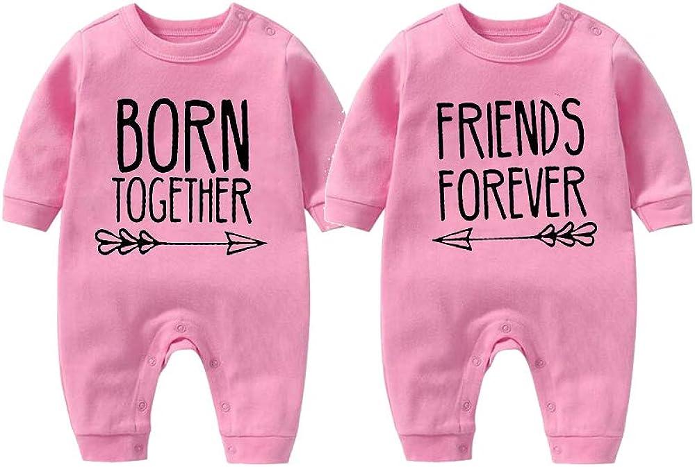 culbutomind Born Together Friends Forever Cute Twins - Body para bebé