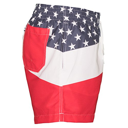 922cea7530 Meripex Apparel Men's Patriotic American Flag Swim Trunks: The Old Glory's (Cheaper  Than Chubbies)