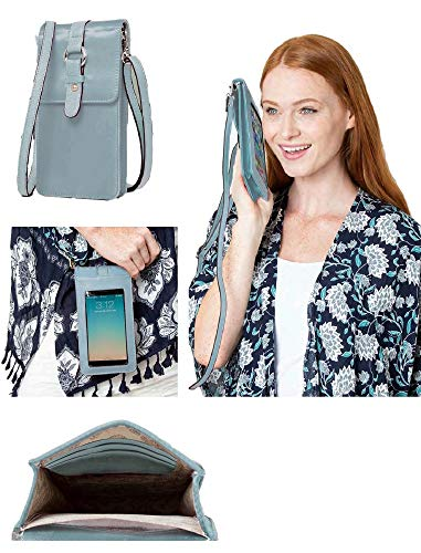 Simply Noelle Go Girl Cell Phone Carrier in Taupe