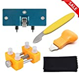 Poraxy Watch Back Remover Tool - Adjustable Watch Back Case Opener Repair and Battery Replacement Tool Kit