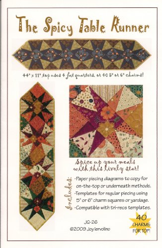 Joy's Quilts Spicy Table Runner Quilt Pattern