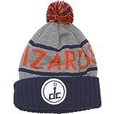 Washington Wizards Mitchell & Ness NBA High 5 Gray Current Cuffed Knit Hat