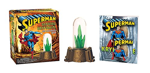 Superman: Glowing Kryptonite and Illustrated Book (Miniature Editions)