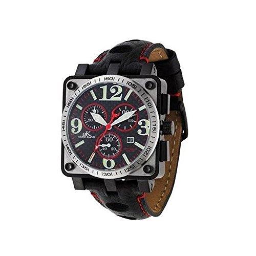 Adee Kaye Leather Band Chronograph Watch Model AK4008-MIPB