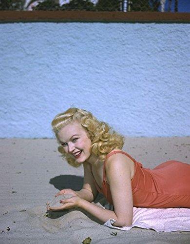 Beautiful Swimsuit - June Haver Beautiful Swimsuit Pin Up Photo Original Transparency Slide 5x4 Inch
