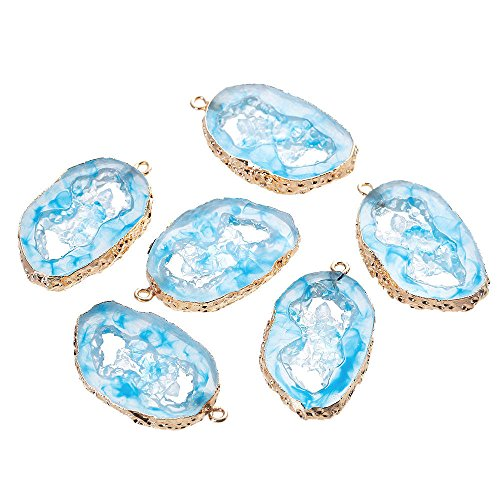 Druzy Pendant Blue Irregular Design 50mm Resin Z223 Jewelry Making Supply Pendant Bracelet DIY Crafting by Wholesale Charms
