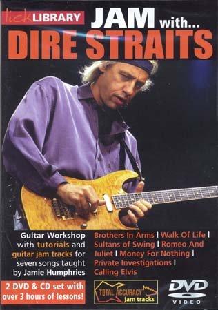 Road Rock International Dire Straits – Lick Library Jam + CD – Guitare Teoría y PEDAG