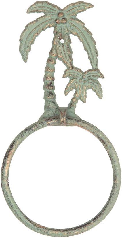 Palm Tree GALLERIE II Decorative Cast Iron Towel Ring Coastal Decor