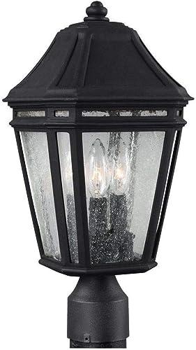 Feiss OL11307BK-LED Londontowne LED Marine Grade Outdoor Post Lighting, Black, 1-Light 8 W x 17 H