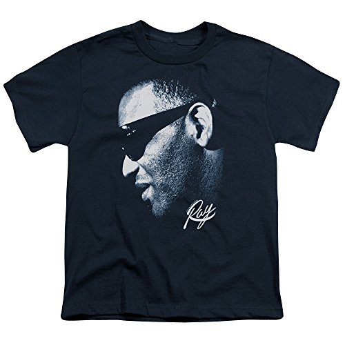 Ray Charles - Youth Blue Ray T-Shirt, X-Large, Navy