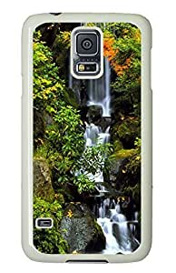 Samsung Galaxy S5 customize covers Forest Falls PC White Custom Samsung Galaxy S5 Case Cover