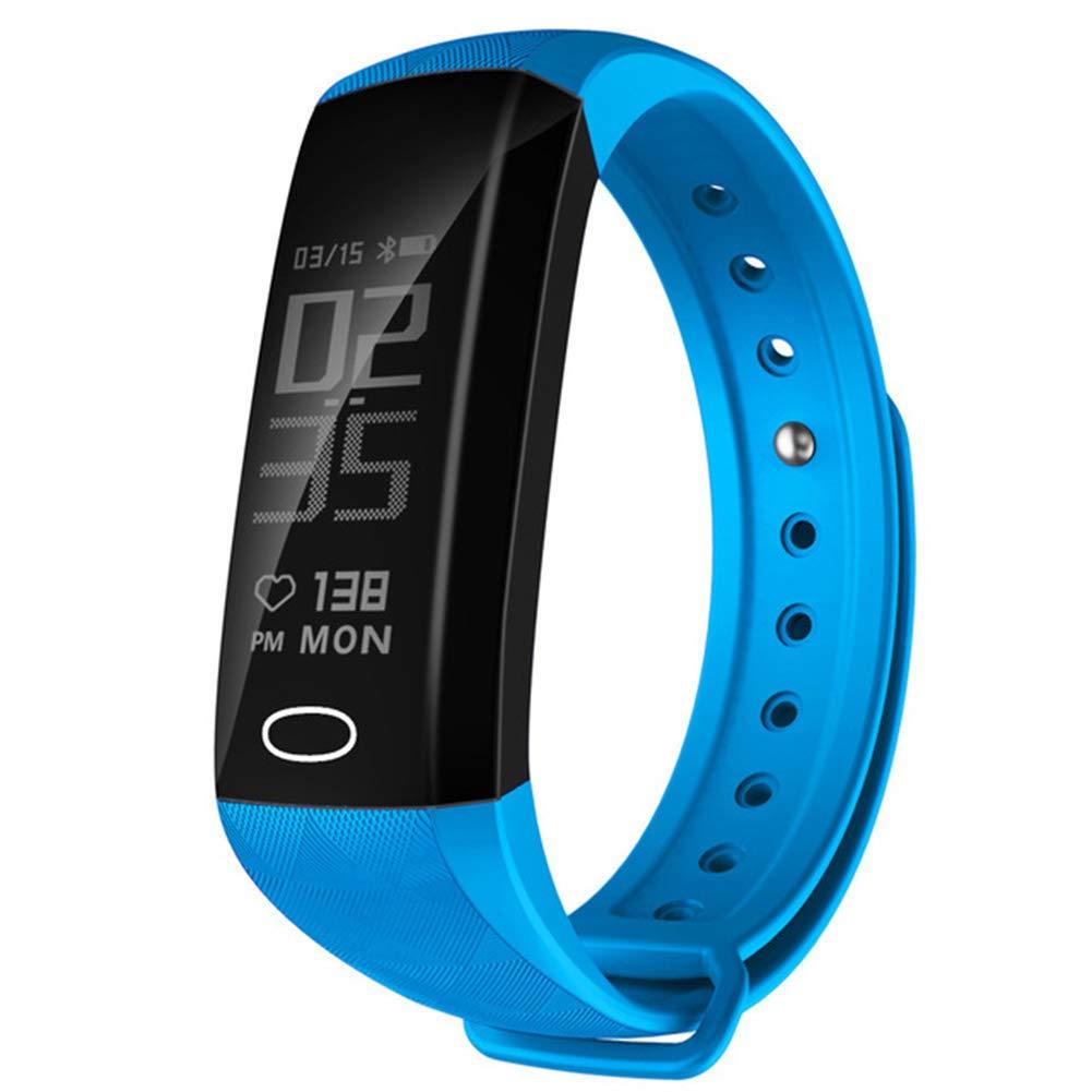 Hswt Fitness Tracker Pedometro Adapt To Android Ios Frequenza Cardiaca Sleep Monitoraggio Attività Tracker Informazioni Push Fotografia A Distanza Smart Bracciale,blu