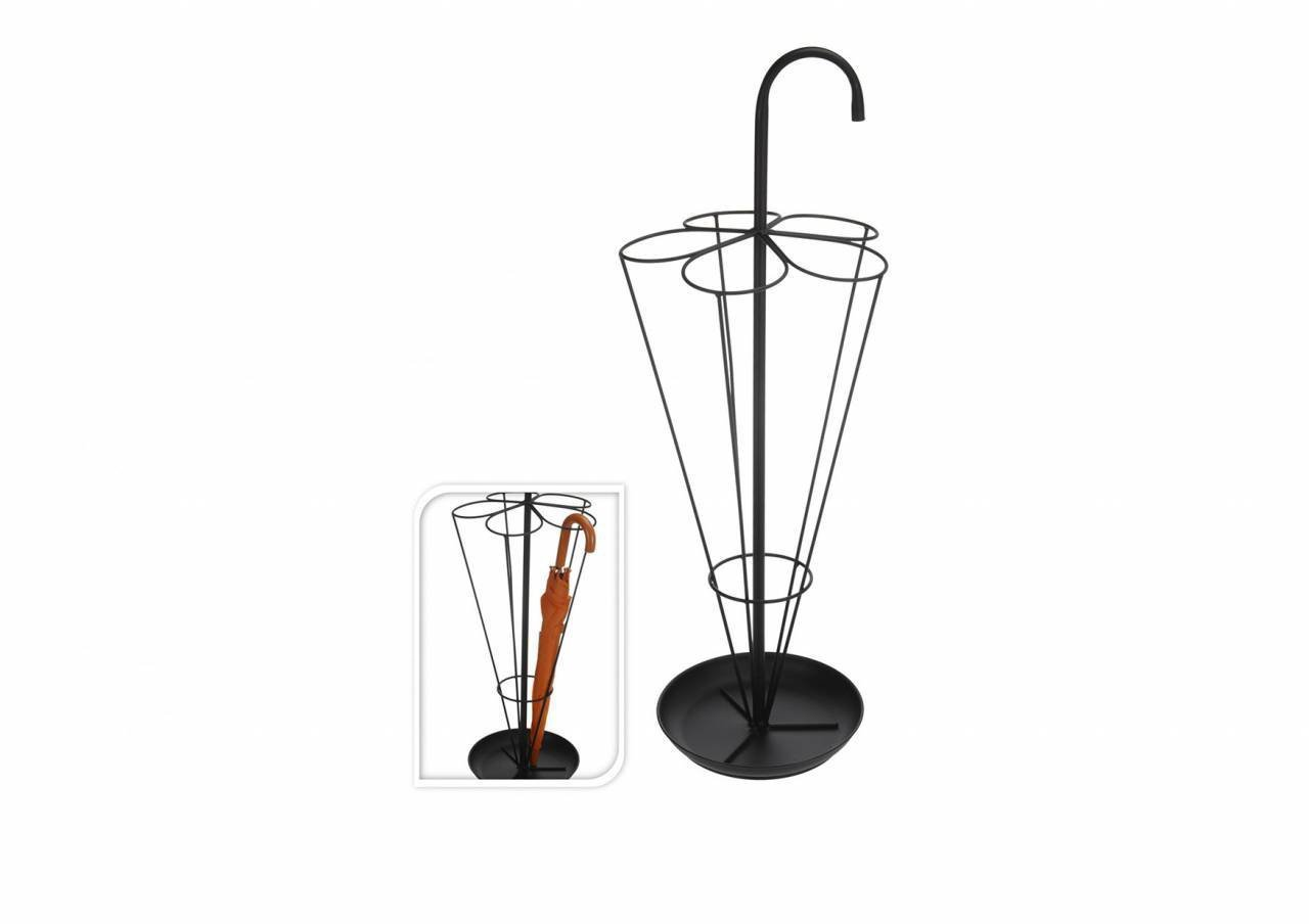 80cm Black Metal Umbrella Walking Stick Stand Storage Holder Rack Piove NB1110070