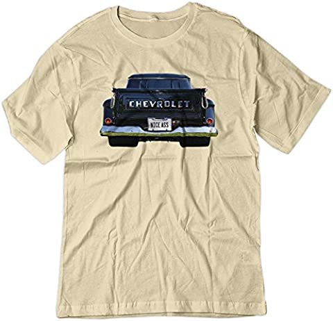 BSW Men's Nice Ass 1957 Chevrolet Task Force V8 Truck Shirt XS Natural - Pictures 1955 Chevy