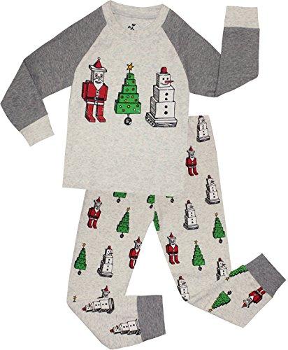 Boys Christmas Pajamas Children Santa Claus PJs Gift Toddler 2 Pieces Pants Set Sleepwear