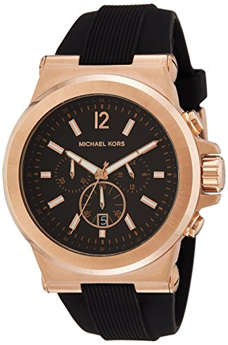 Michael Kors Men's Dylan Watch, 48mm, Black, One Size (East Broadway 1)
