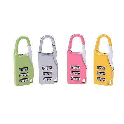 70f02ebe1863 BIN BON - 4Color 3 Combination Padlock Code Lock Men Women ...