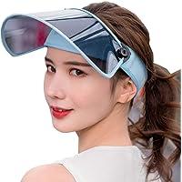 CJC Sombreros Dom Sombrero Visera UV Proteccion Ajustable Ángulo con Teñido Transparente Cubrir Flexible Venda