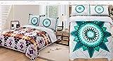 Southwest Design ''Star Blanket'' REVERSIBLE Super Thick_Queen Size 3pcs Set Grey