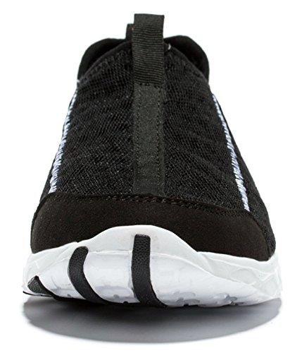 Viihahn Hombres Malla Transpirable Slip-en Los Zapatos De Secado Rápido De Agua Negro