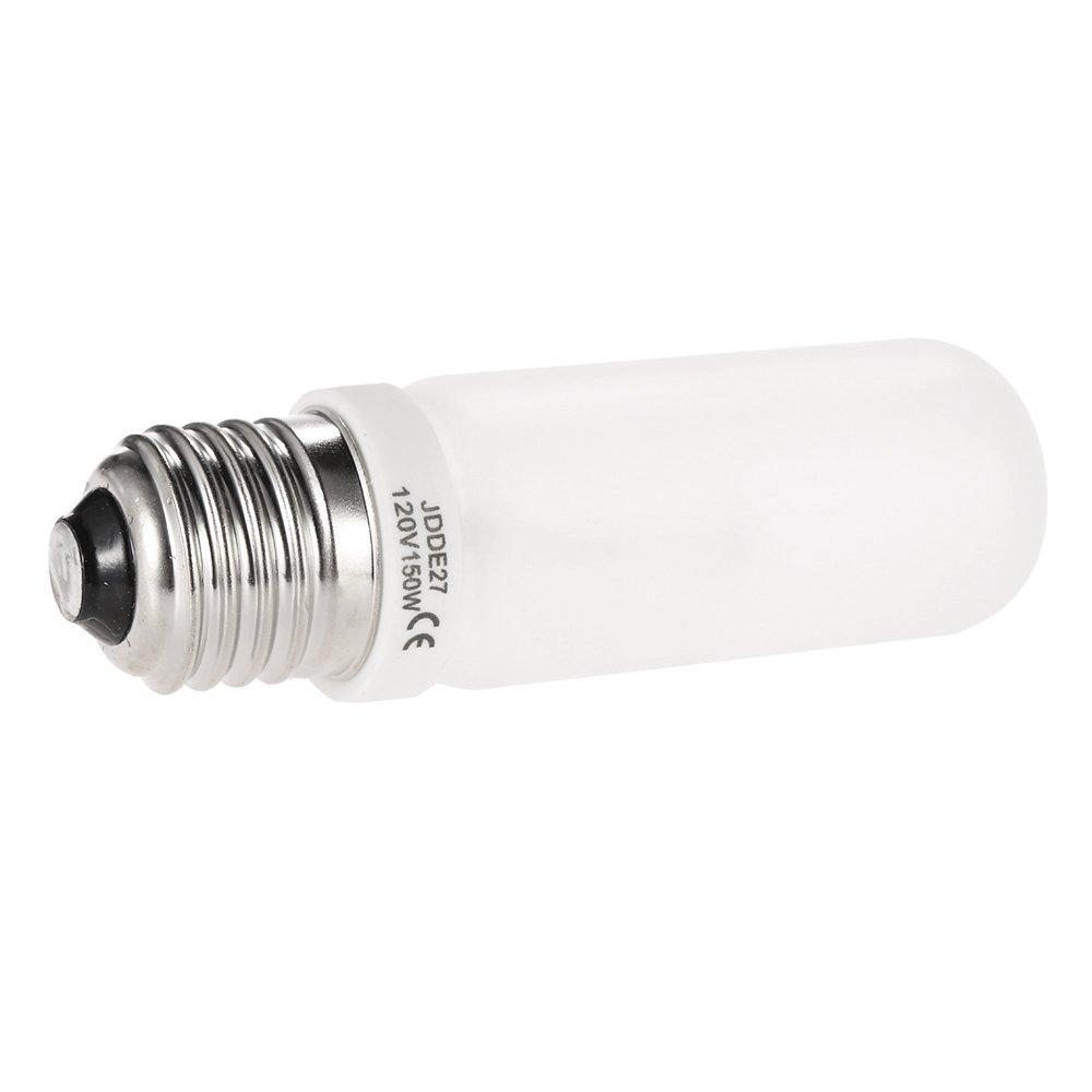 VSTAR 2 Pack JDD Type 150W 110-130V E26/E27 (Standard Edison Screw) Frosted Halogen Light Bulb, Replacement Modeling Bulb for Photo Studio Strobe Lighting (2 Pack)
