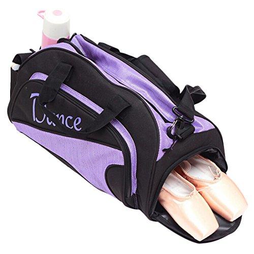Pouch Dance Gym Ballet Purple Girl's Sports Travel Handy On Carry kilofly Bag Duffel OyBF11Wc