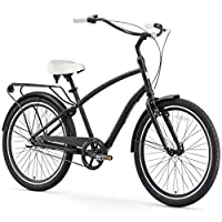 sixthreezero EVRYjourney Men's 26-Inch Hybrid Cruiser Bicycle, Matte Black