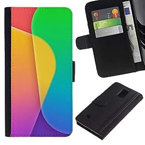 LECELL--Cuero de la tarjeta la carpeta del tirón Smartphone Slots Protección Holder For Samsung Galaxy Note 4 IV -- Modelo del color --