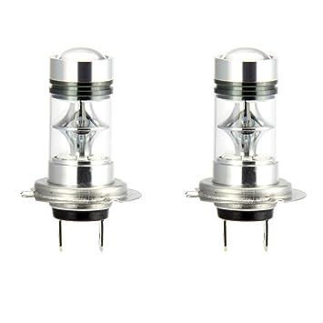 2 x H7 Bombillas Led para Coche 100W LED Conduciendo la Luz de Niebla,10000K
