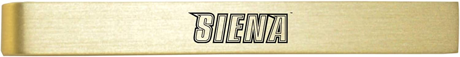 Siena College-Brushed Metal Tie Clip-Gold