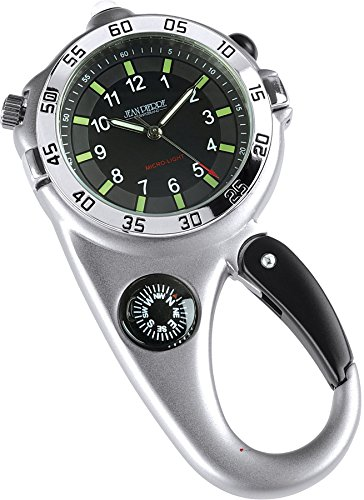 iLuv Silver Adventure Watch Multi-function - Compass Flashlight Magnifying Glass Clip ()
