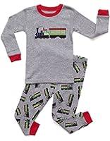 Leveret Little Boys Train 2 Piece Pajama 100% Cotton (Size 12M-5 Years)